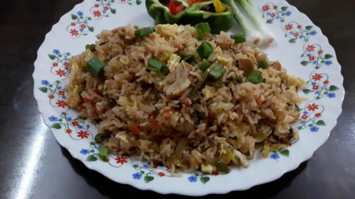 Chicken Fried Rice Recipe in English and Marathi Language with ...