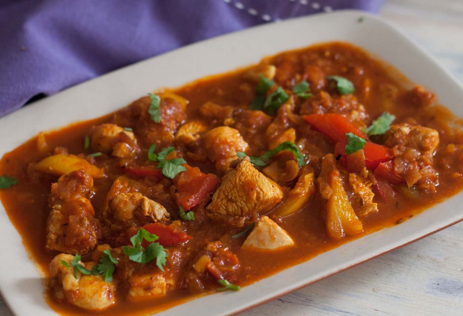 Chicken Jalfrezi Recipe - Chicken And Bell Peppers In Tomato Gravy - Recipes Chicken Jalfrezi