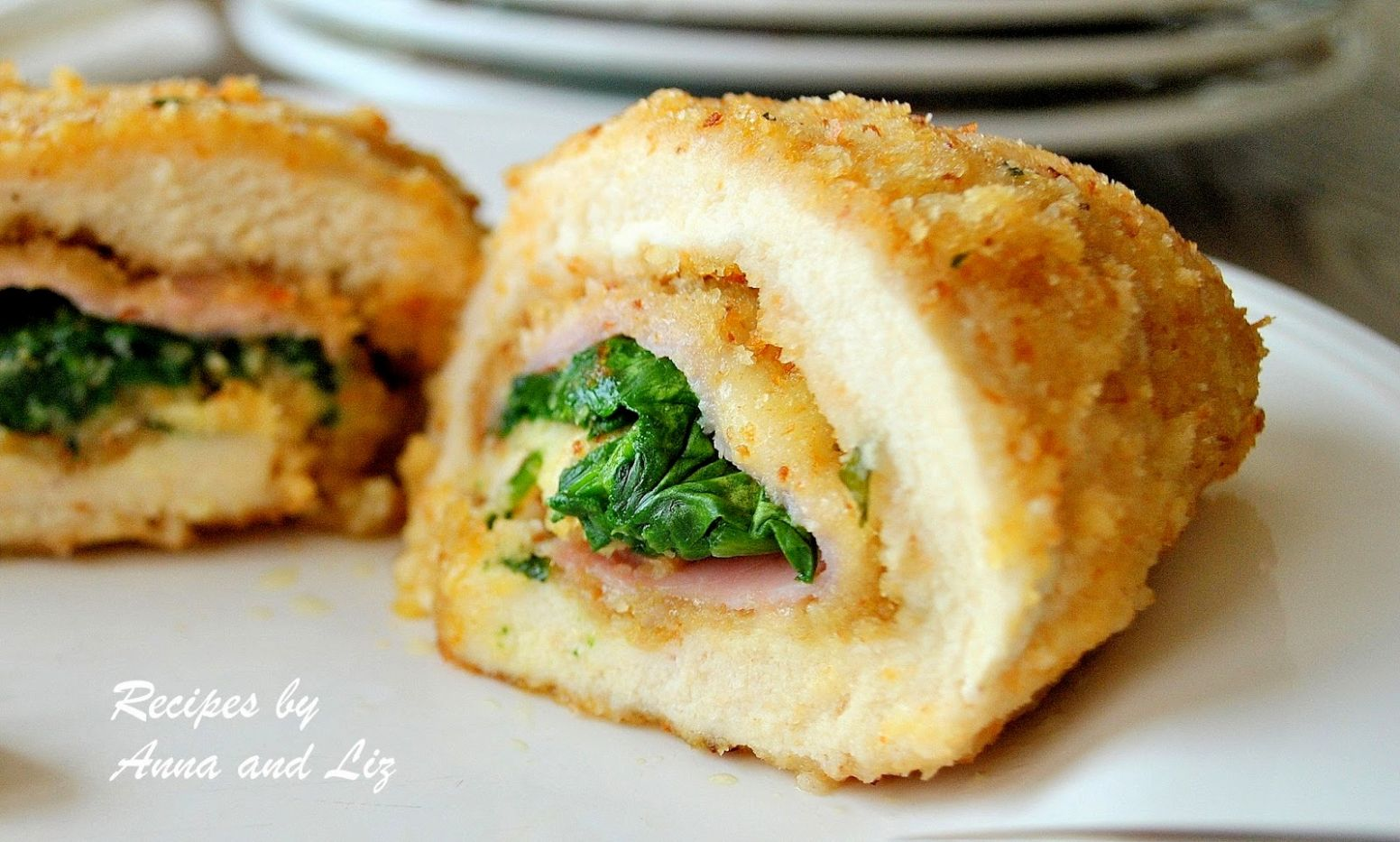 Chicken Rollatini with Ham Cheese and Spinach - 9 Sisters Recipes ...