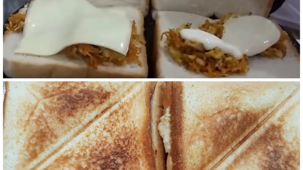 CHICKEN SANDWICH in Sandwich Maker Recipe Urdu/Hindi/English - Recipes Sandwich Maker