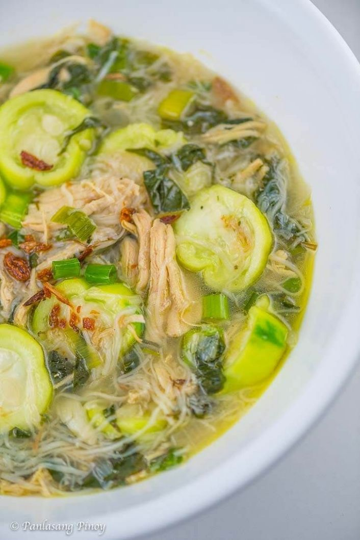 Chicken Soup with Misua and Patola | Recipe | Filipino vegetable ...