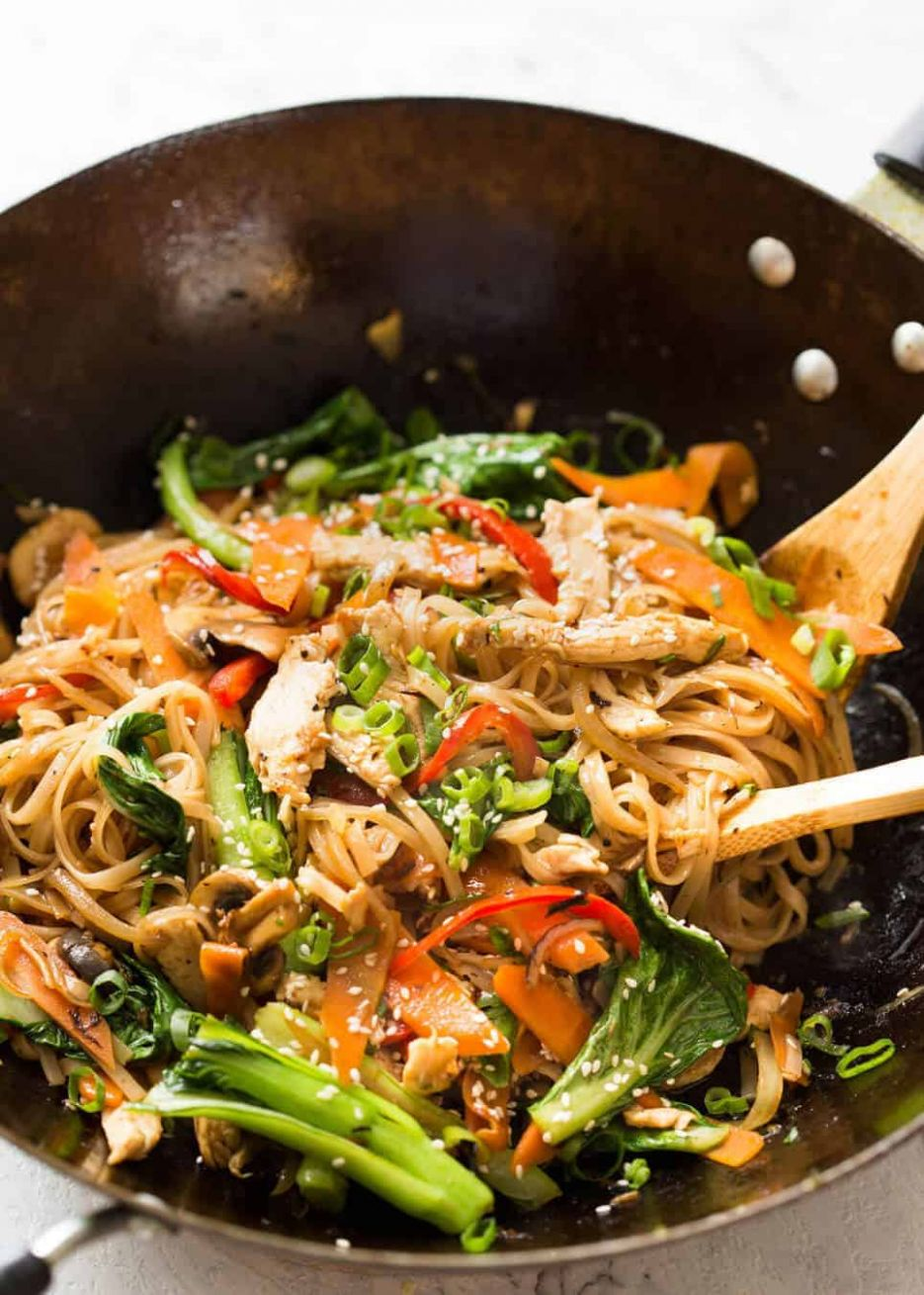 Chicken Stir Fry with Rice Noodles - Recipes Rice Vermicelli Noodles