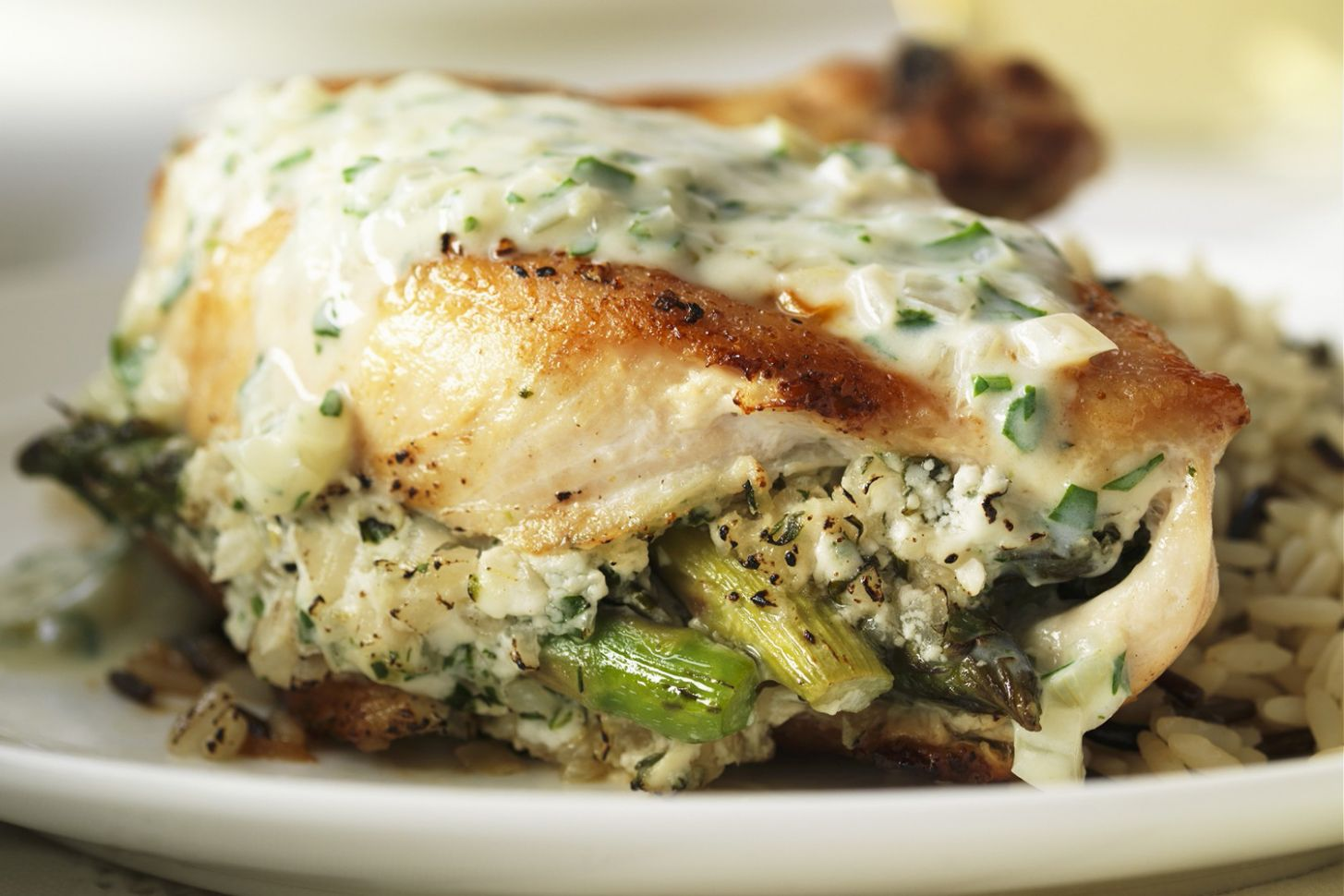Chicken Stuffed with Asparagus and Feta - Recipes With Chicken Breast Kraft