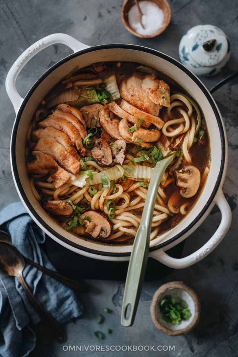 Chicken Udon Soup (鸡肉乌冬面) | Omnivore's Cookbook