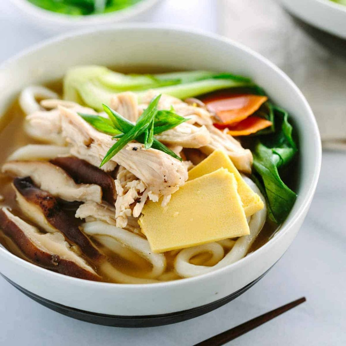 Chicken Udon Soup with Bok Choy - Recipe Chicken Udon