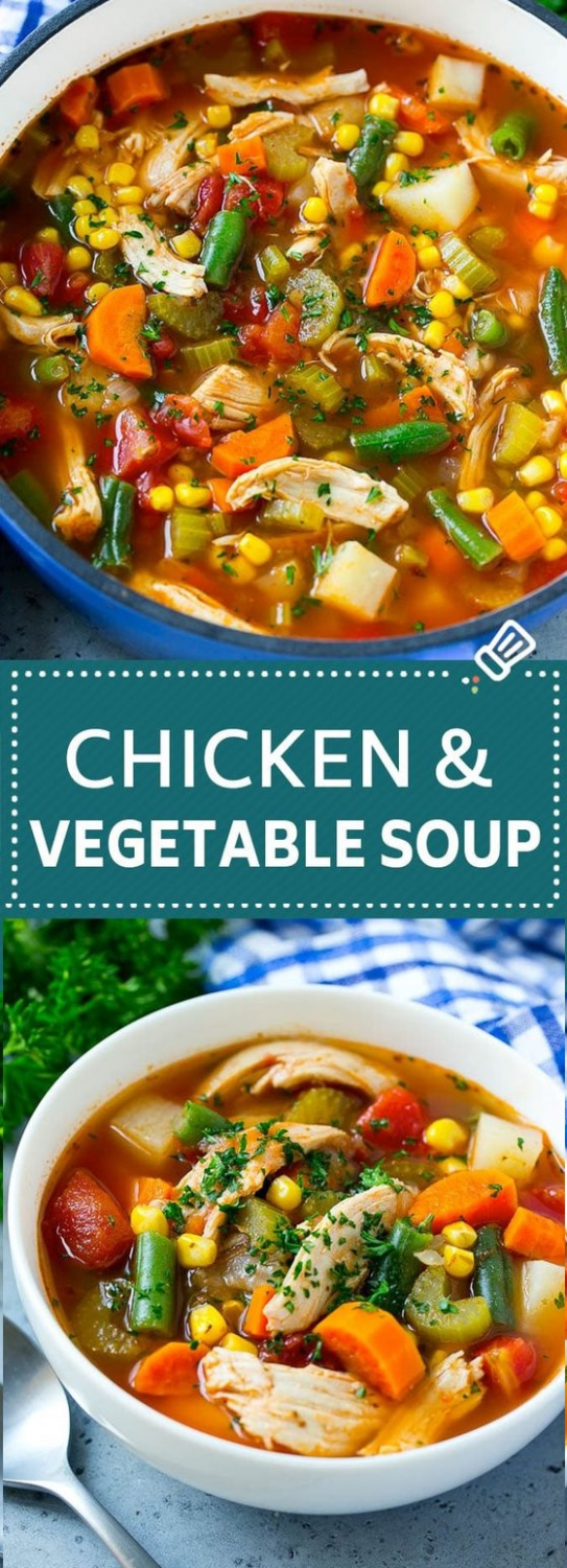 CHICKEN VEGETABLE SOUP #Soup #SoupRecipes #ChickenVegetableSoup in ...