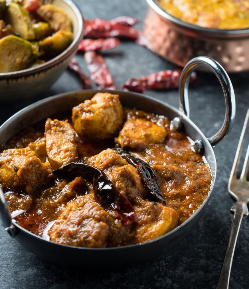 chicken vindaloo - restaurant style