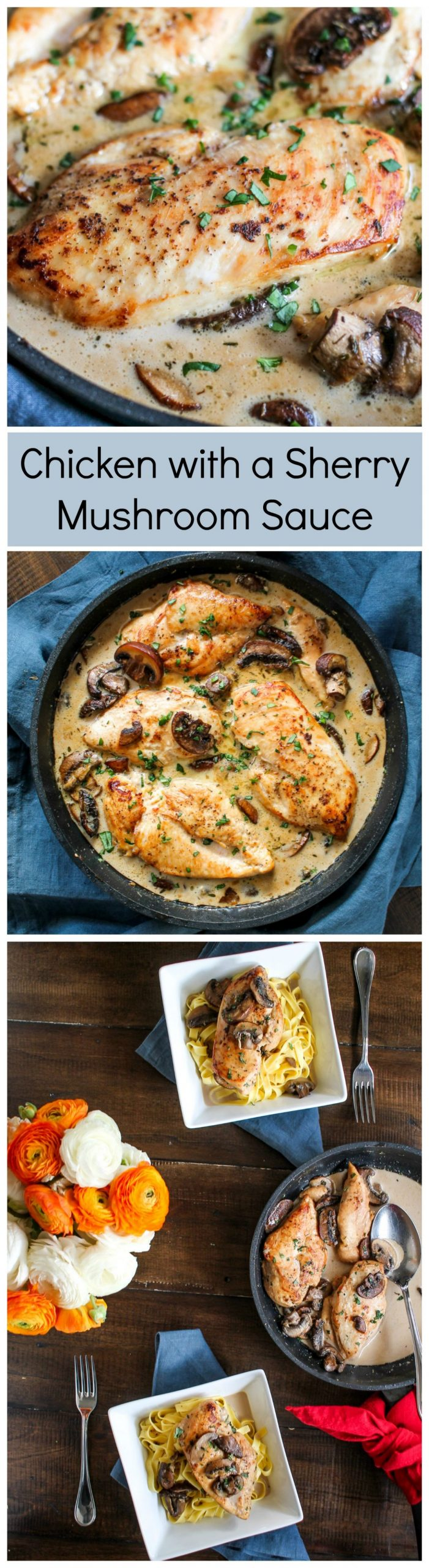 Chicken with a Sherry Mushroom Sauce - Recipes Using Cooking Sherry