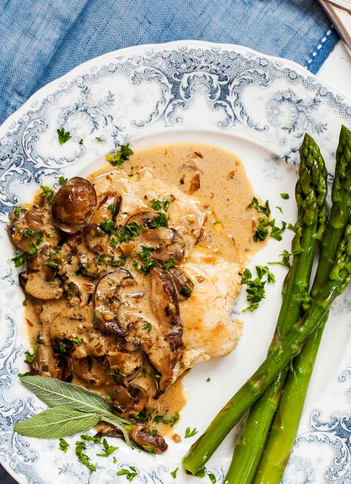 Chicken with Creamy Mushroom Sage Sauce - Recipes Chicken Breast And Mushrooms