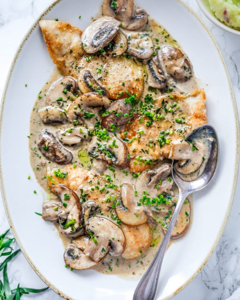 Chicken with Mushroom and Tarragon Cream Sauce | Primal Gourmet