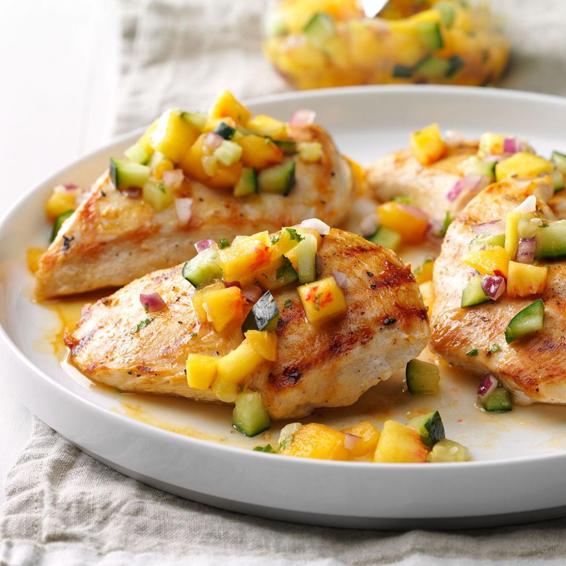 Chicken with Peach-Cucumber Salsa - Recipes Chicken With Peaches