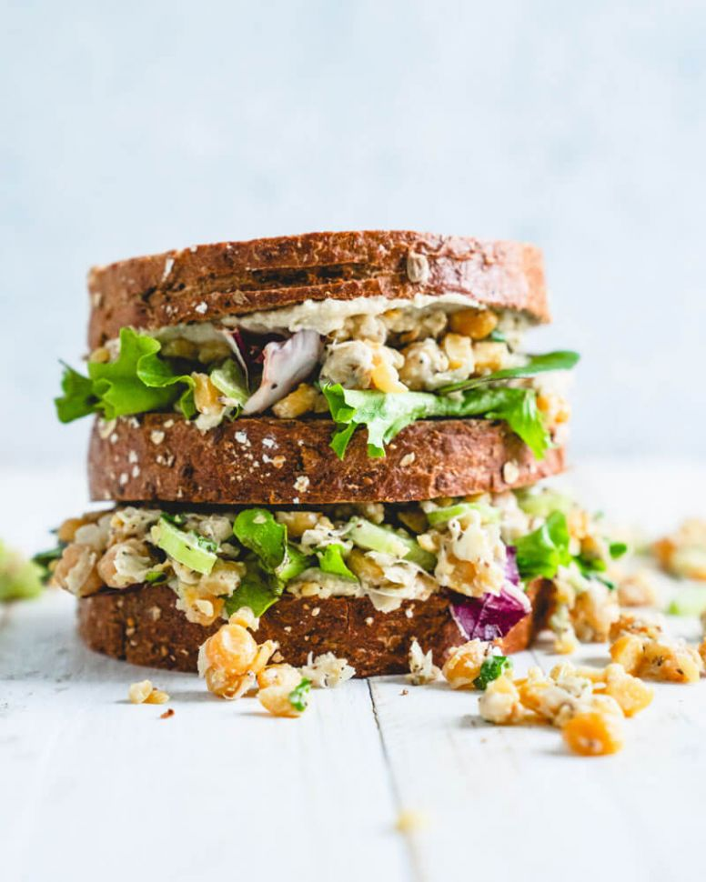 Chickpea Salad Sandwich - Recipes Vegetarian Lunch