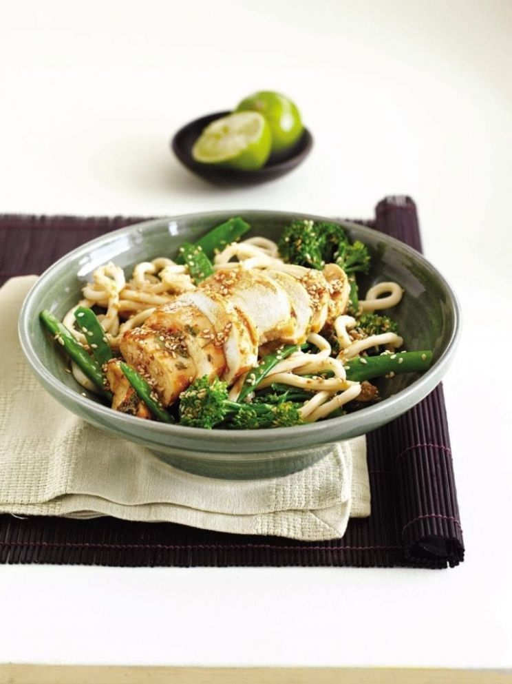 Chilli chicken udon noodles with ginger - Recipe Chicken Udon Ginger