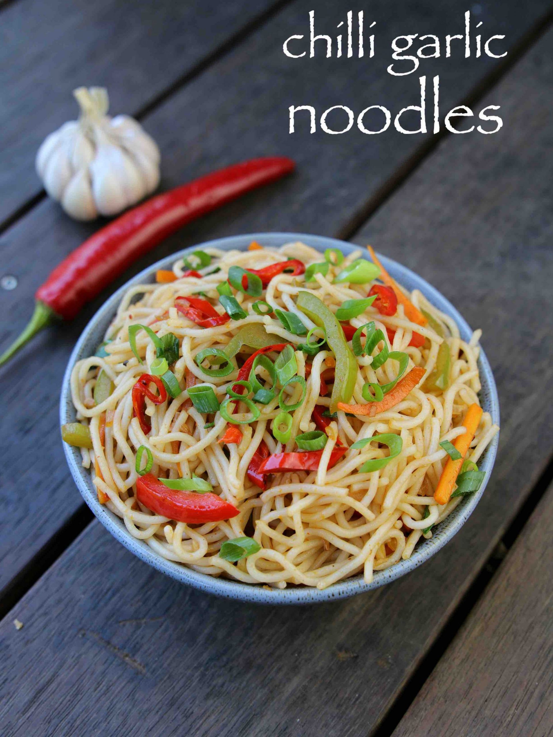 chilli garlic noodles recipe | garlic noodles recipe | chinese noodles - Pasta Recipes Hebbars Kitchen