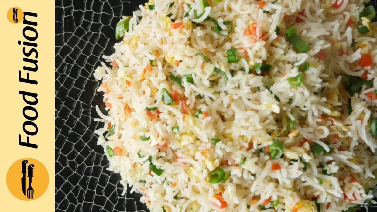 Chinese Fried Rice - restaurant style Recipe By Food Fusion - Urdu Recipes Fried Rice