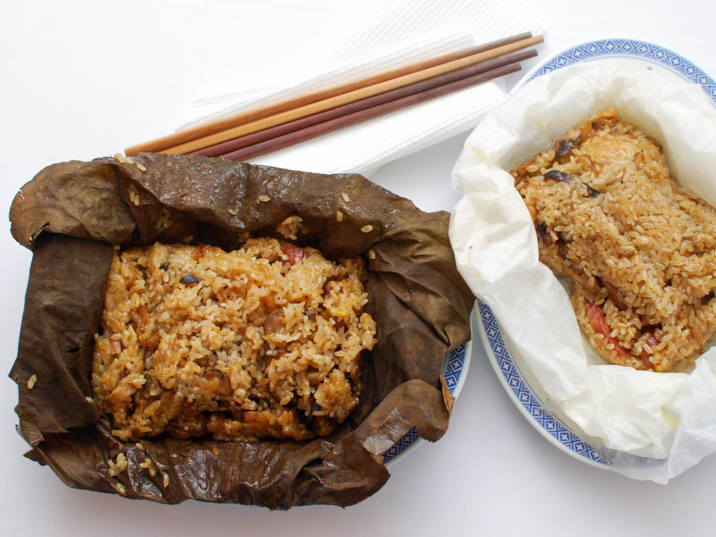 Chinese Sticky Rice Wrapped in Lotus Leaf (Lo Mai Gai) Recipe