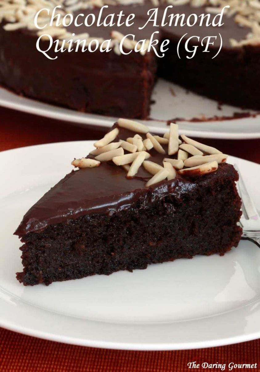 Chocolate Almond Quinoa Cake (GF)