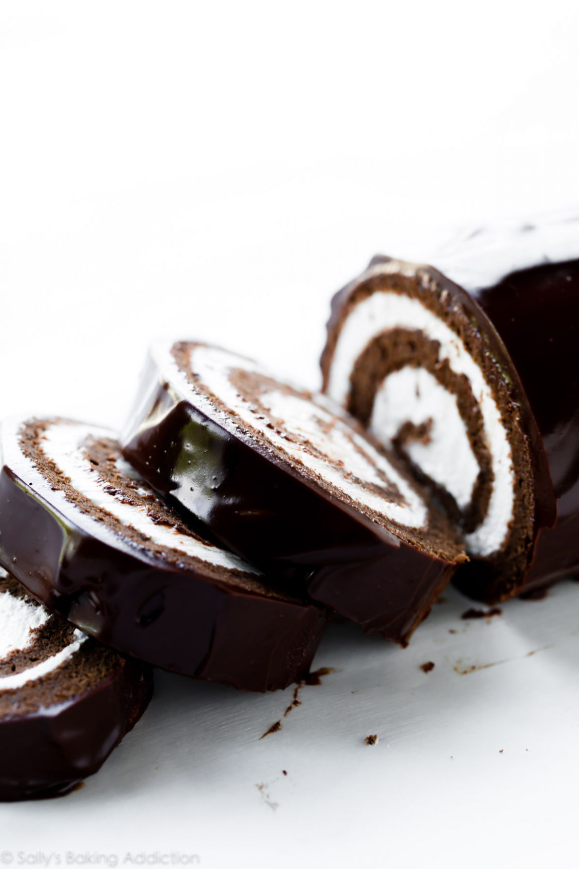 Chocolate Cake Roll (Swiss Roll) | Sally's Baking Addiction
