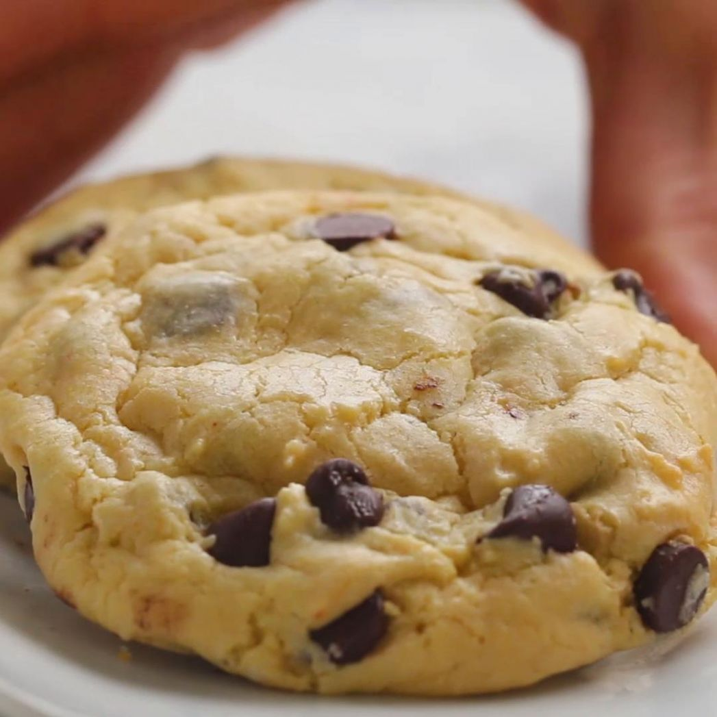 Chocolate Chip Cake Mix Cookies Recipe by Tasty - Recipes Cake Mix Cookies