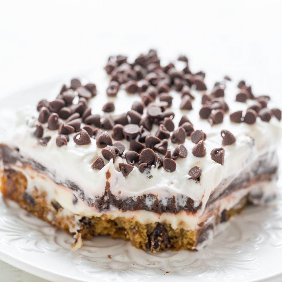 Chocolate Chip Cookie Chocolate Lasagna - Averie Cooks