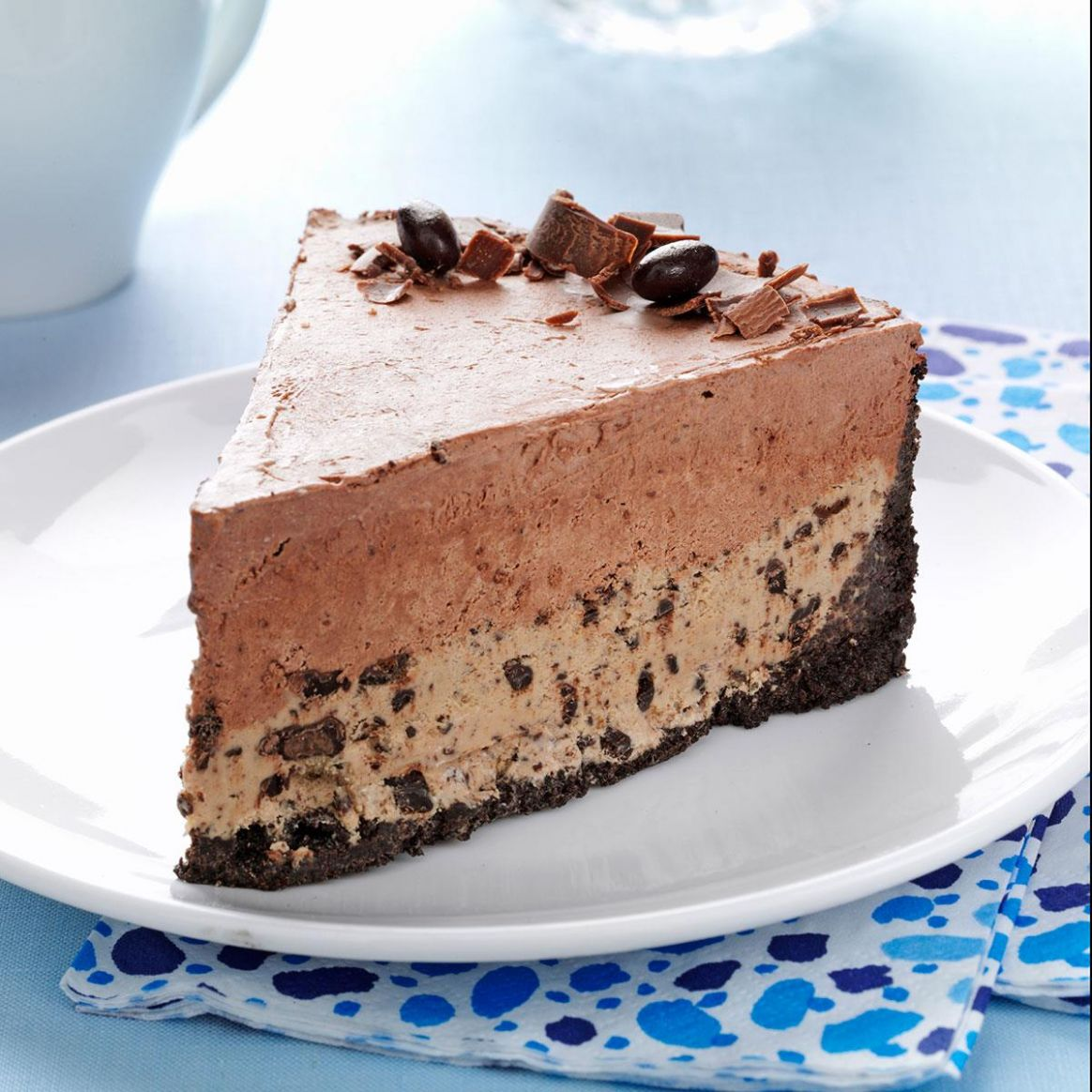 Chocolate-Coffee Bean Ice Cream Cake