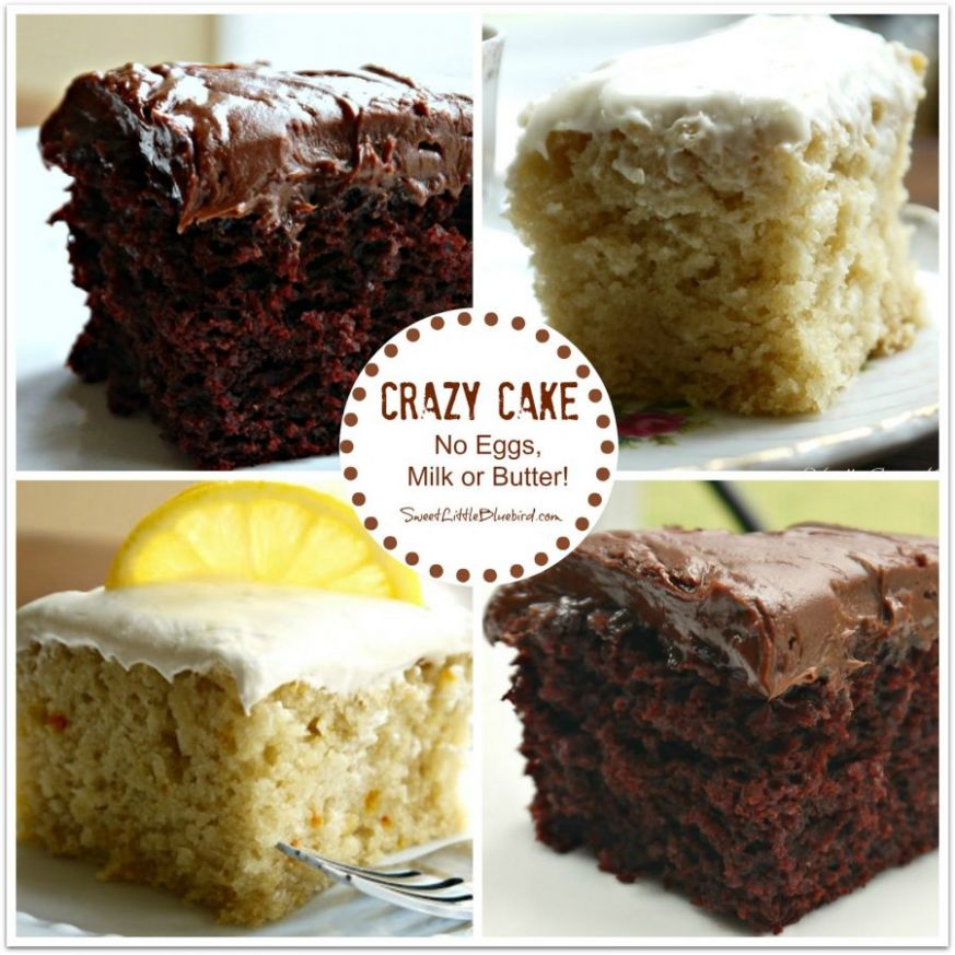 Chocolate Crazy Cake (No Eggs, Milk, Butter or Bowls) - Sweet ..