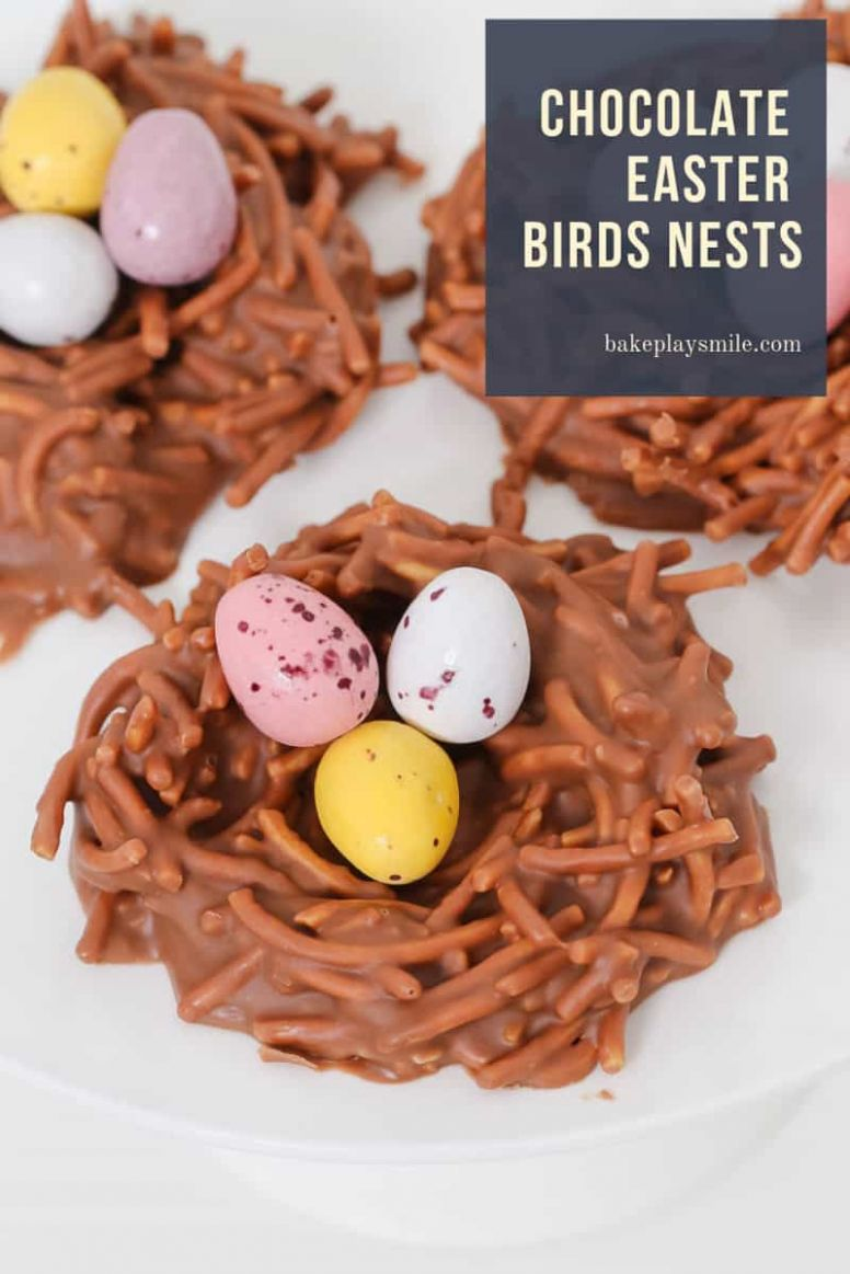 Chocolate Easter Birds Nests - Bake Play Smile - Recipe Chocolate Easter Nests