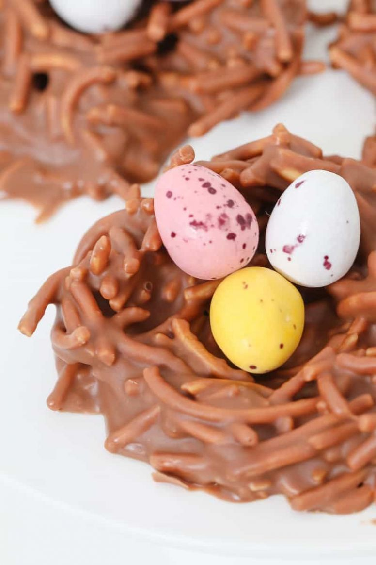 Chocolate Easter Birds Nests - Recipe Chocolate Easter Nests