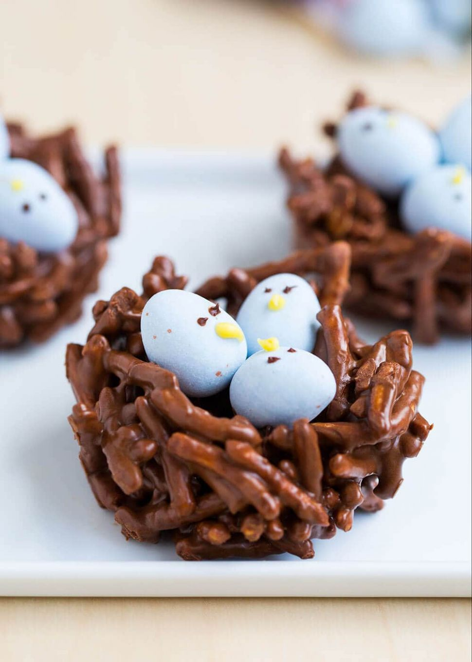 Chocolate Egg Nest Treats - Recipe Chocolate Easter Nests
