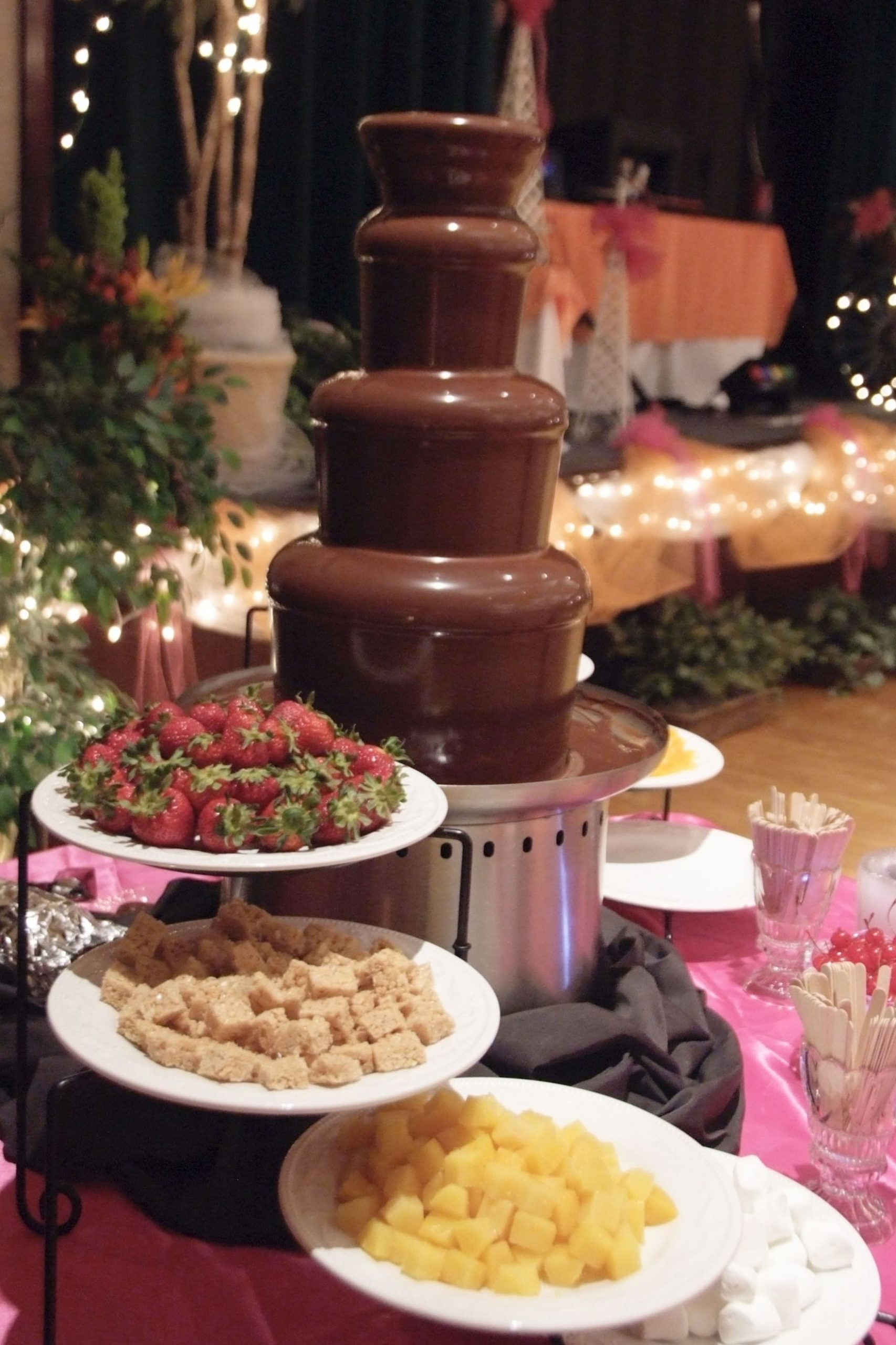 Chocolate Fountain Amanda do they have any serving trays like this ..