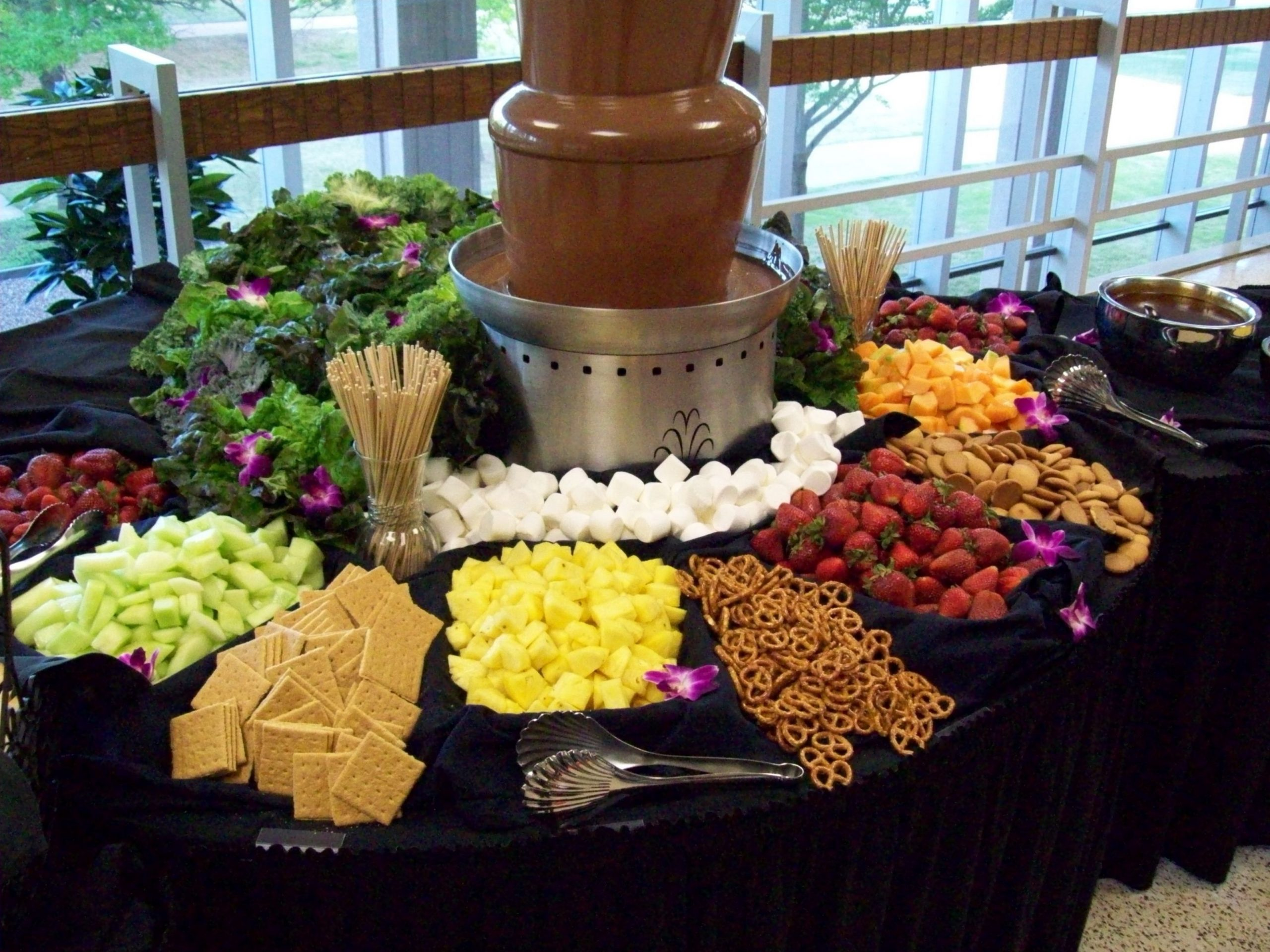 Chocolate Fountain and Fruit Display | Chocolate fountain recipes ..