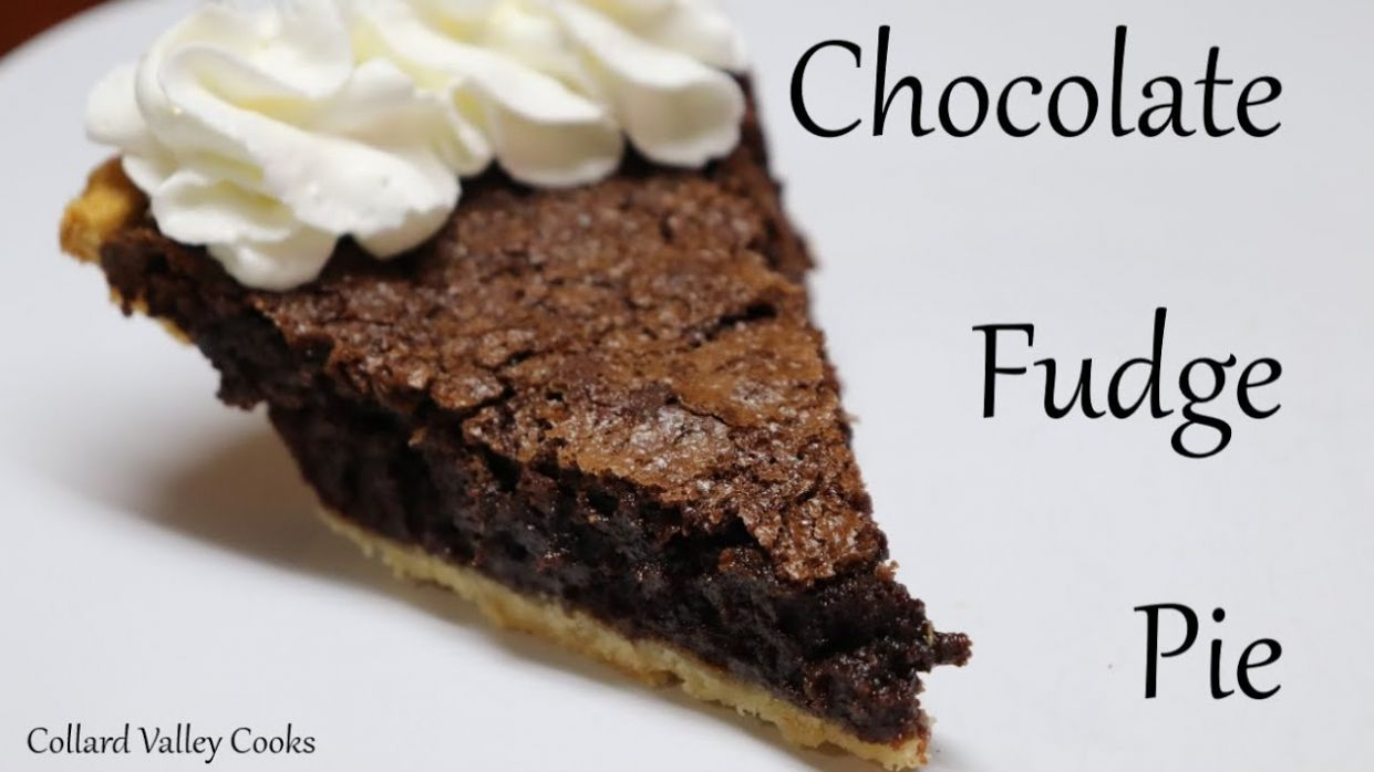 Chocolate Fudge Pie, Simple Ingredient Old Fashioned Cooking