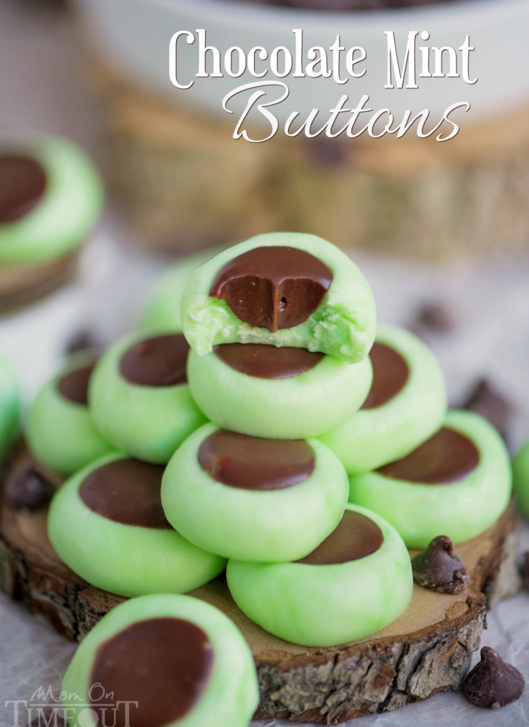 Chocolate Mint Cream Cheese Buttons - Recipes Chocolate Mint