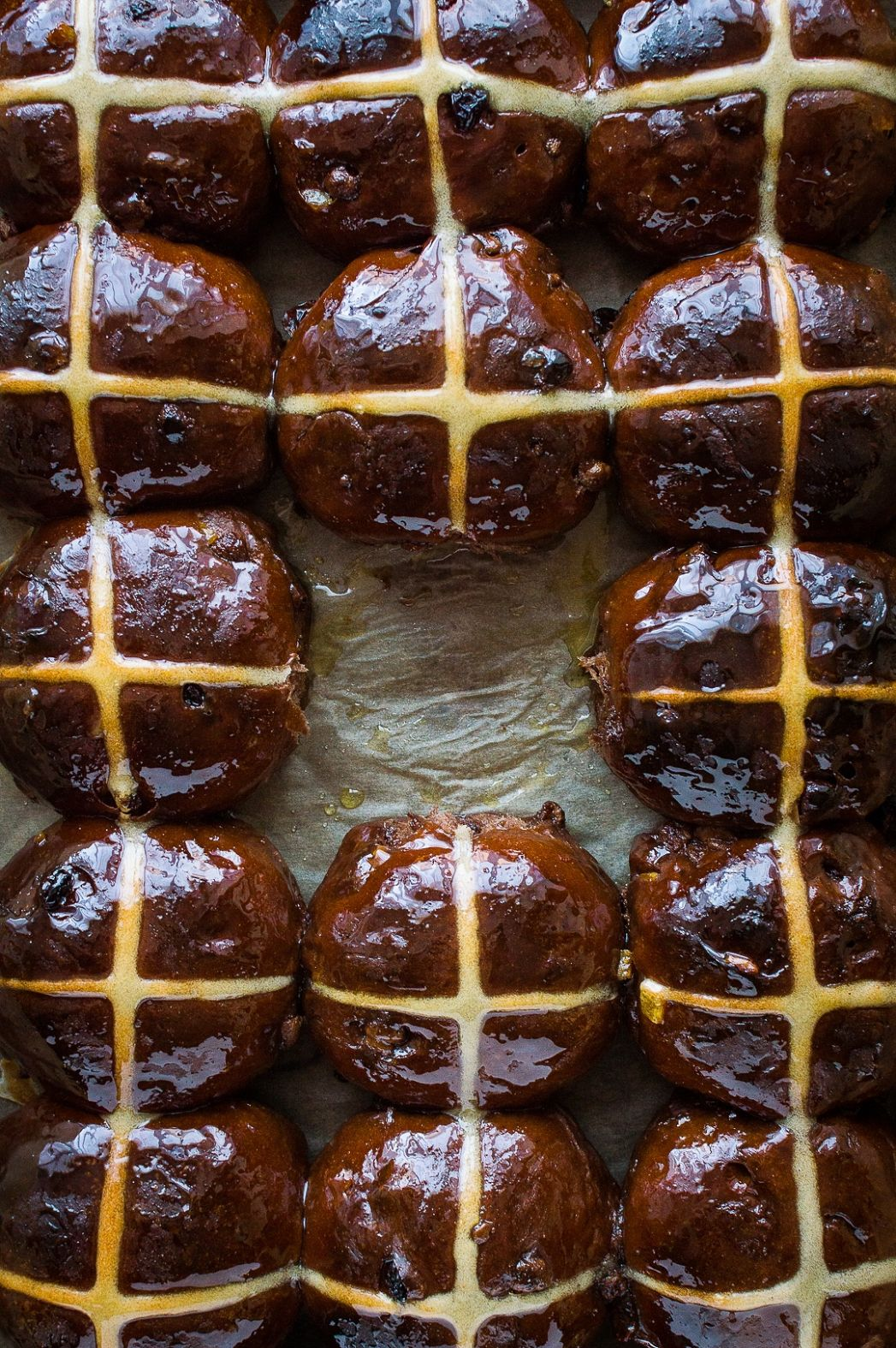 Chocolate Orange Hot Cross Buns - Recipe Chocolate Hot Cross Buns