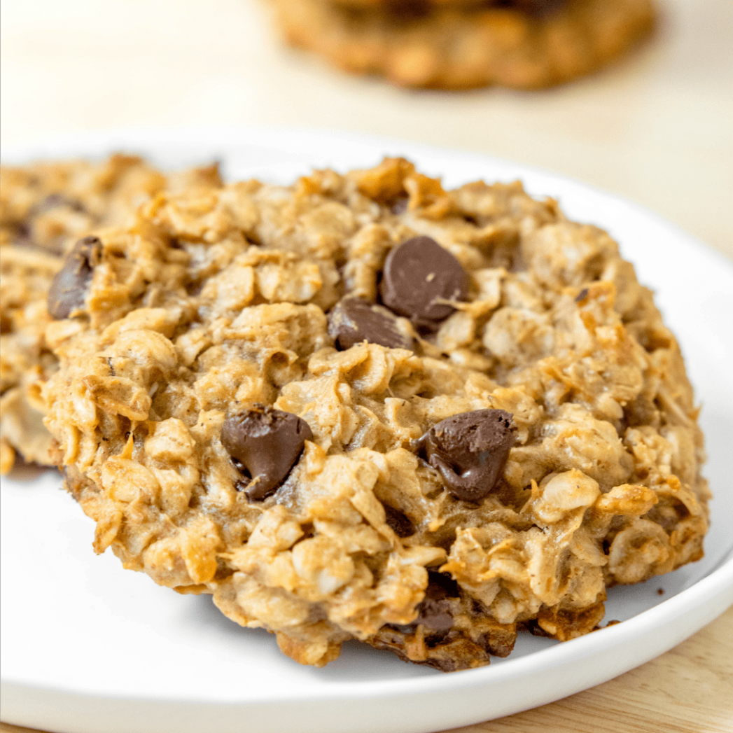 Chocolate Peanut Butter Banana Breakfast Cookies