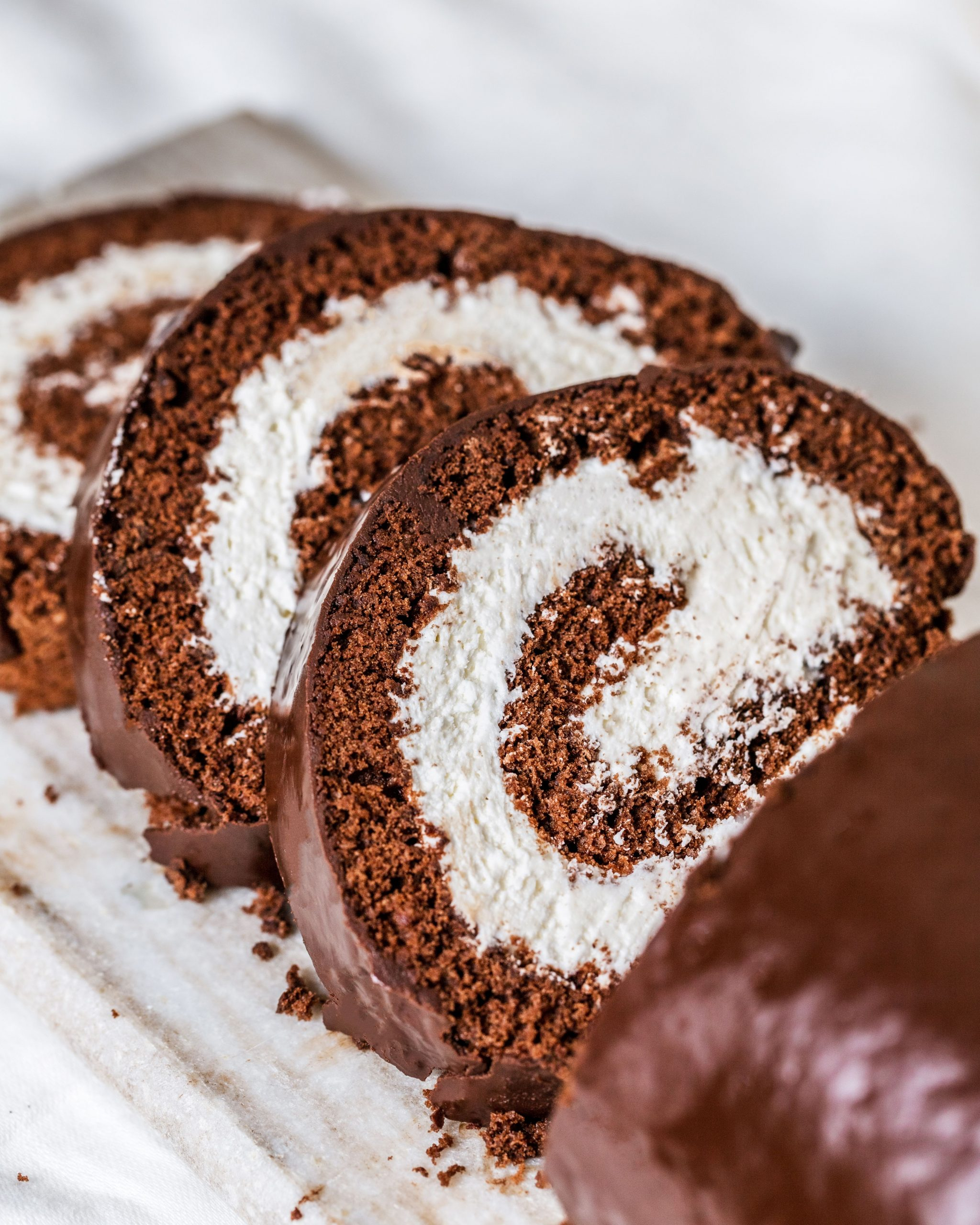 Chocolate Swiss Roll Cake