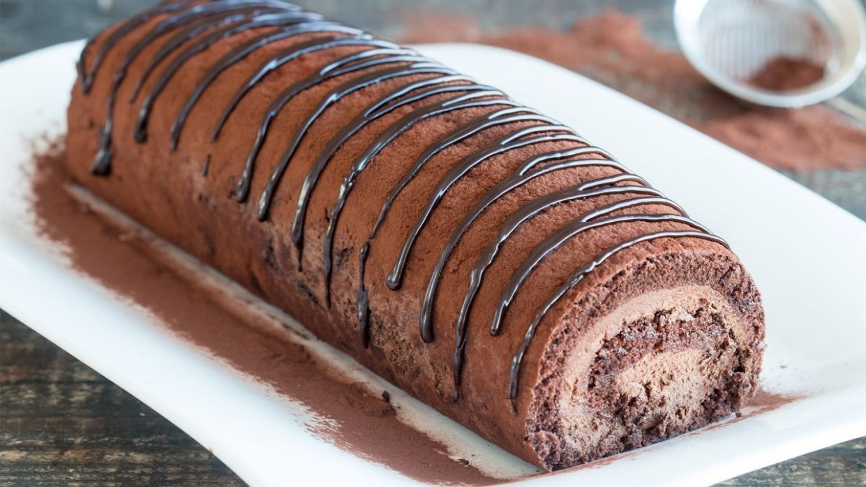 Chocolate Swiss Roll Recipe - Recipe Chocolate Roll