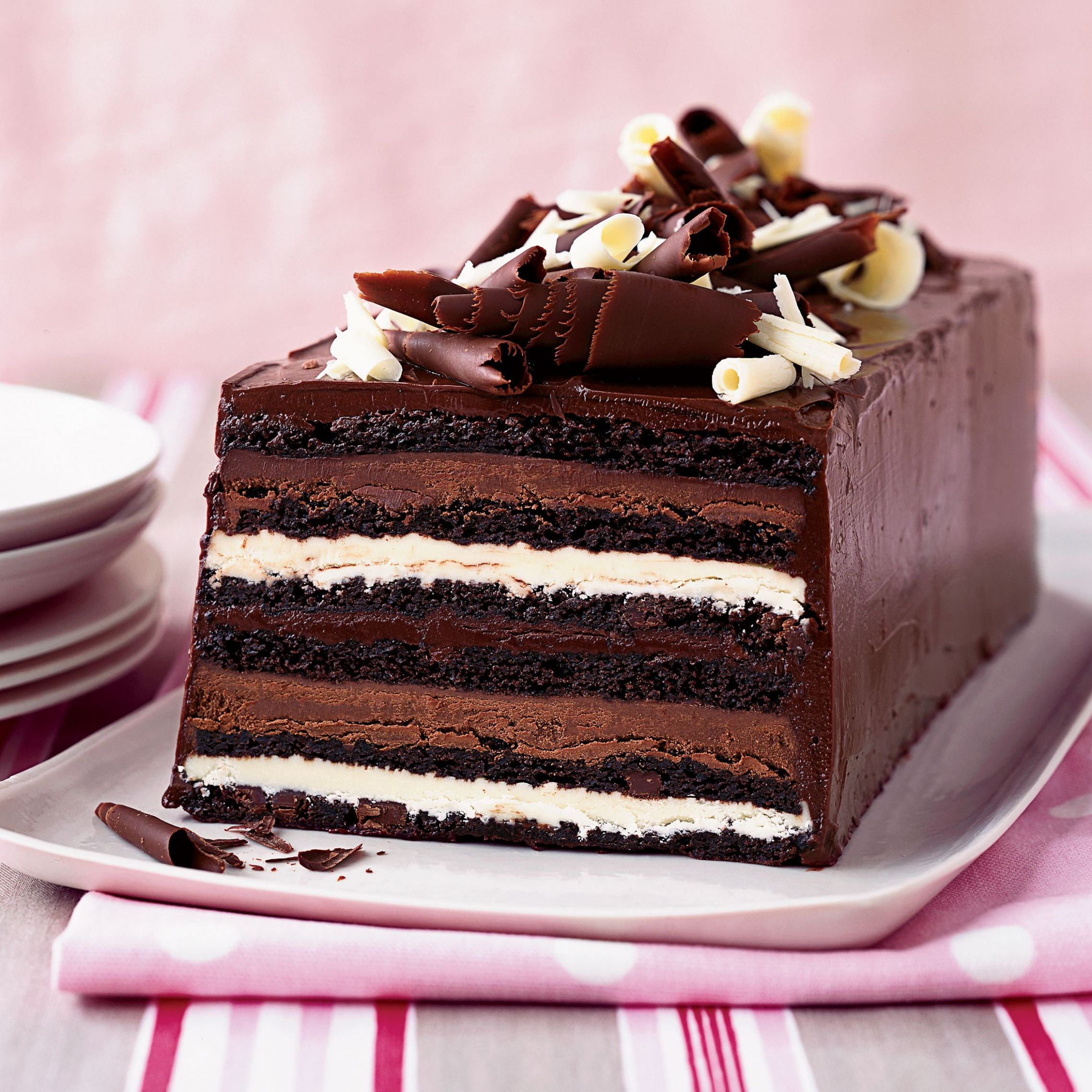 Chocolate Truffle Layer Cake - Recipe Chocolate Truffle Cake