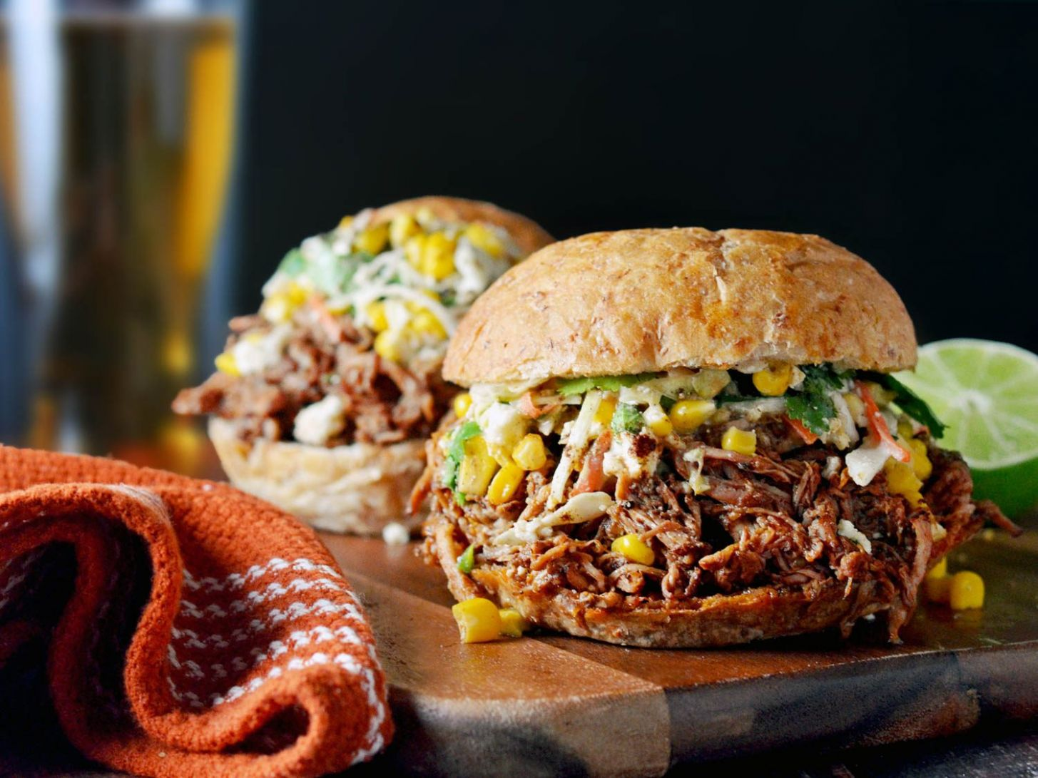 Chorizo-Spiced Pulled Pork With Mexican Street Corn Slaw Recipe