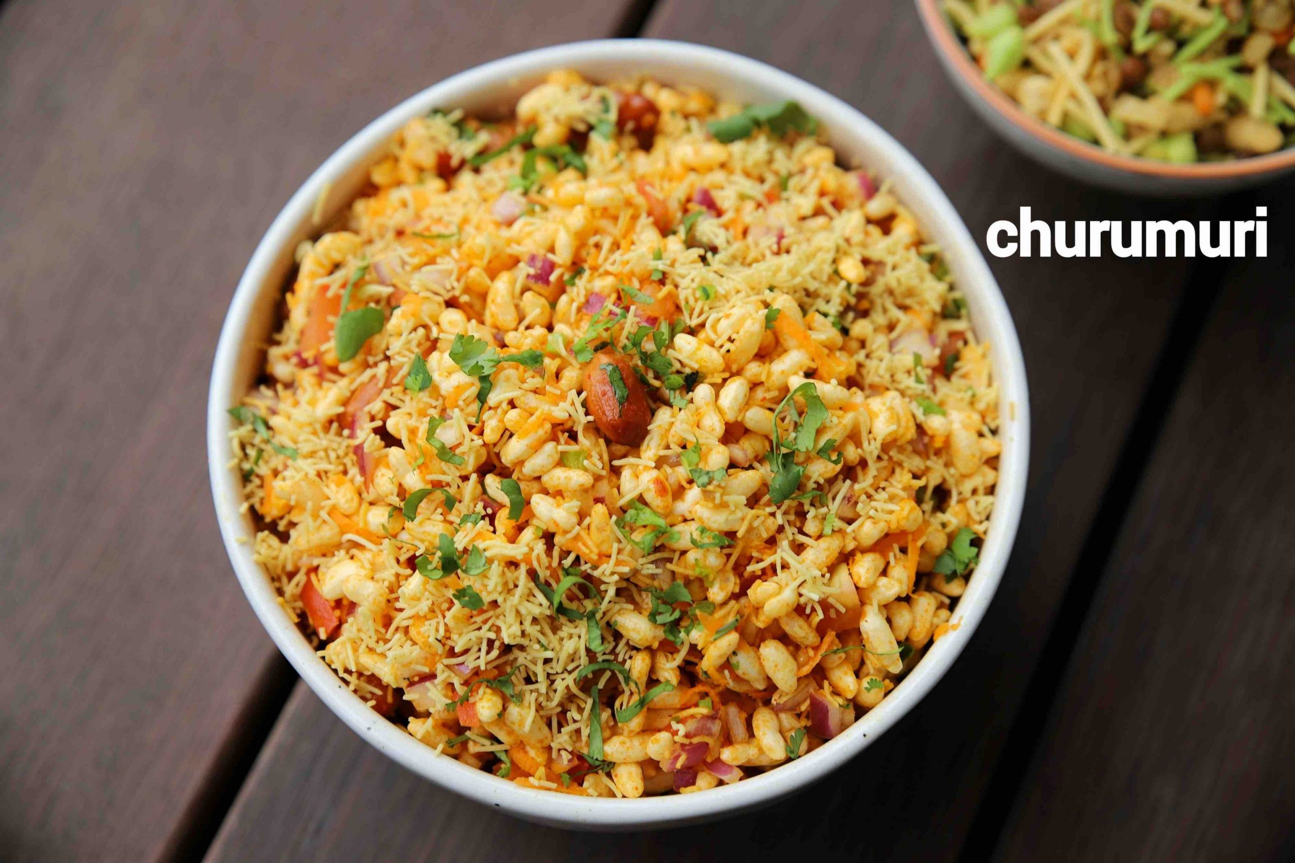 churumuri recipe | masala mandakki recipe | spiced puffed rice