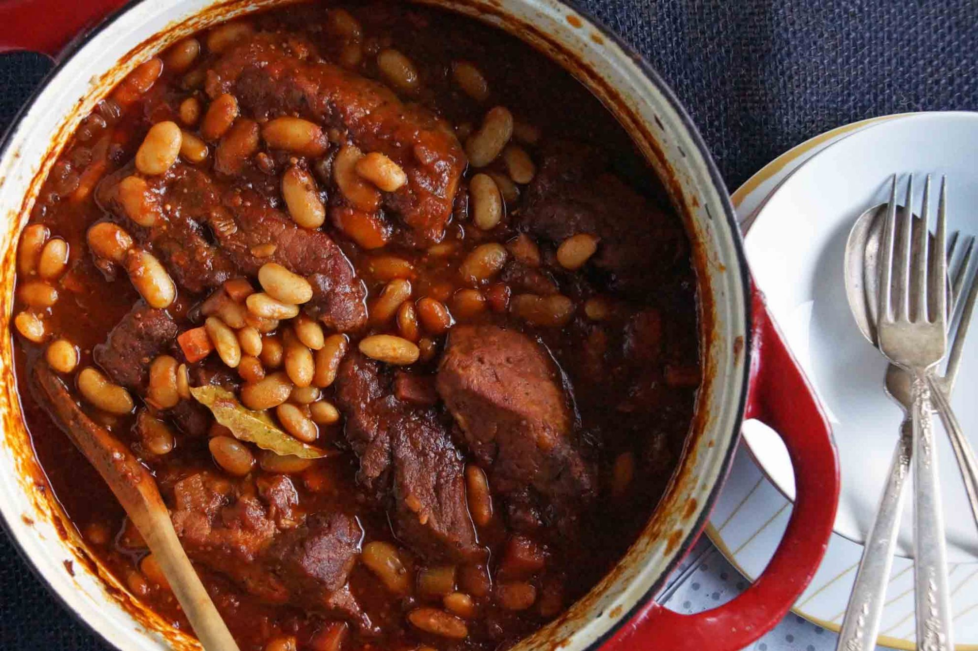 Cider Braised Country Style Pork Ribs & Cannellini Beans - Recipe Pork And Beans