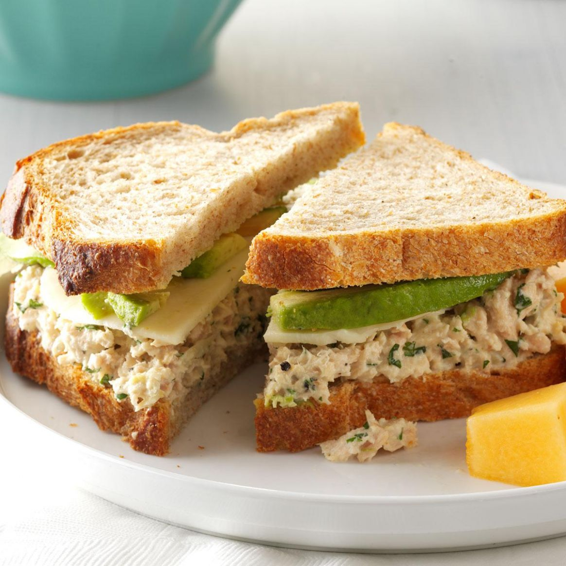 Cilantro-Avocado Tuna Salad Sandwiches - Sandwich Recipes Taste Of Home