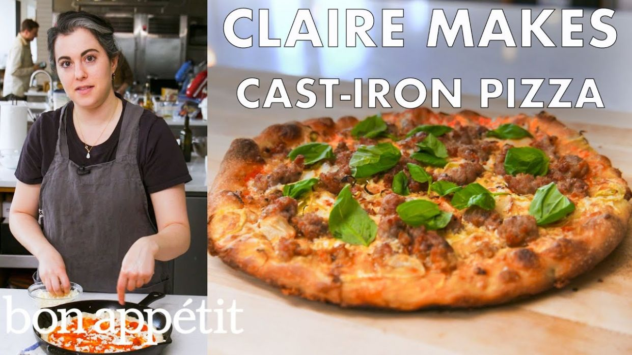 Claire Makes Cast-Iron Skillet Pizza | From the Test Kitchen | Bon Appétit - Pizza Recipes Cast Iron Skillet