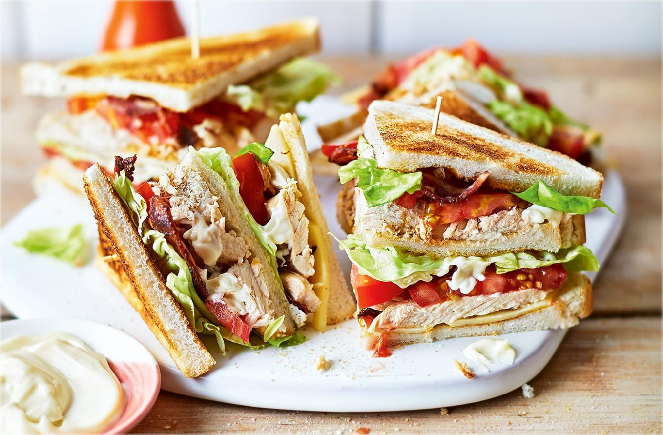 Classic chicken club sandwich - Sandwich Recipes With Ingredients And Procedure