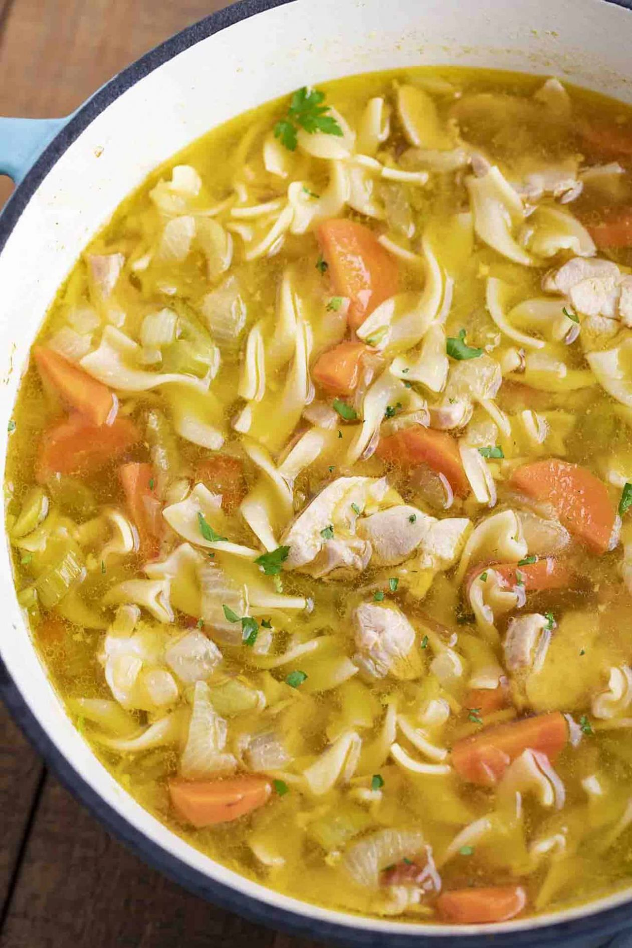 Classic Chicken Noodle Soup - Soup Recipes With Chicken Broth