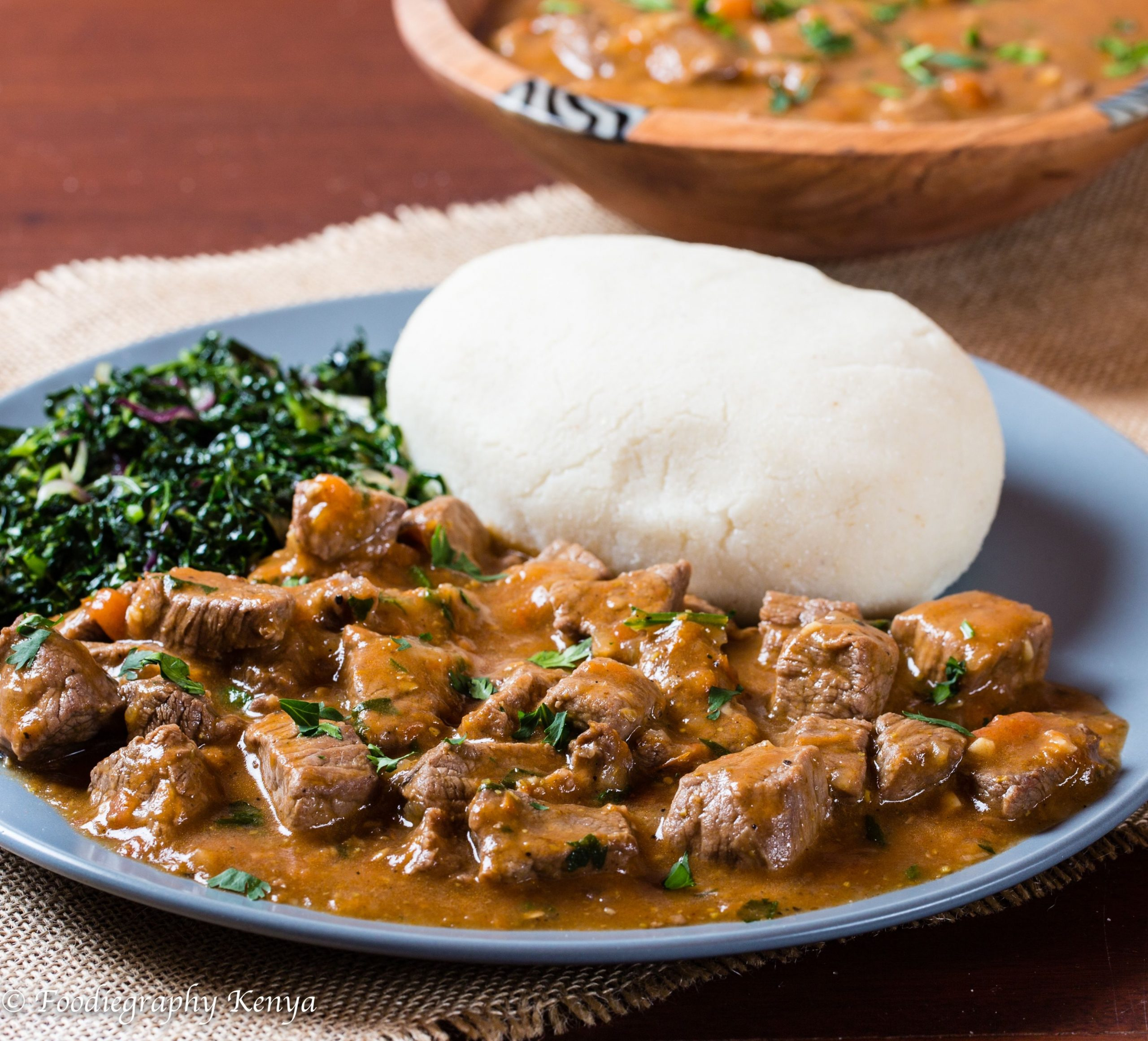 Classic Kenyan Beef Stew and Ugali - Pika Chakula - Food Recipes Kenya