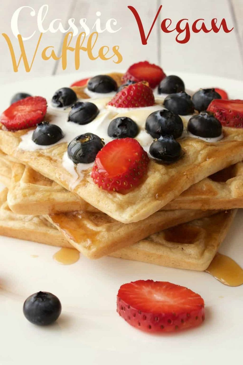 Classic Vegan Waffles - Loving It Vegan - Recipe Vegetarian Waffle
