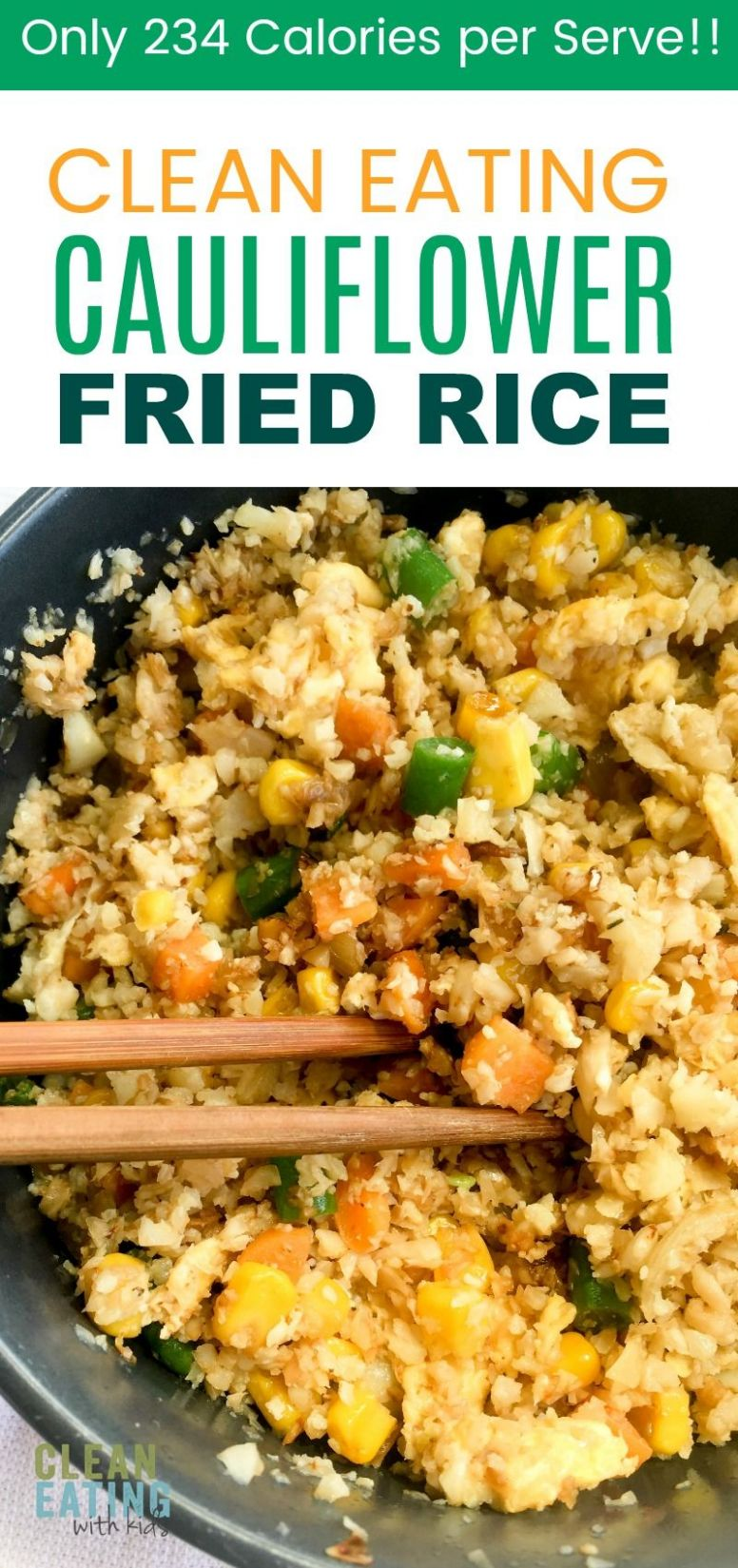 Clean Eating Cauliflower Fried Rice. A ridiculously low calorie ...