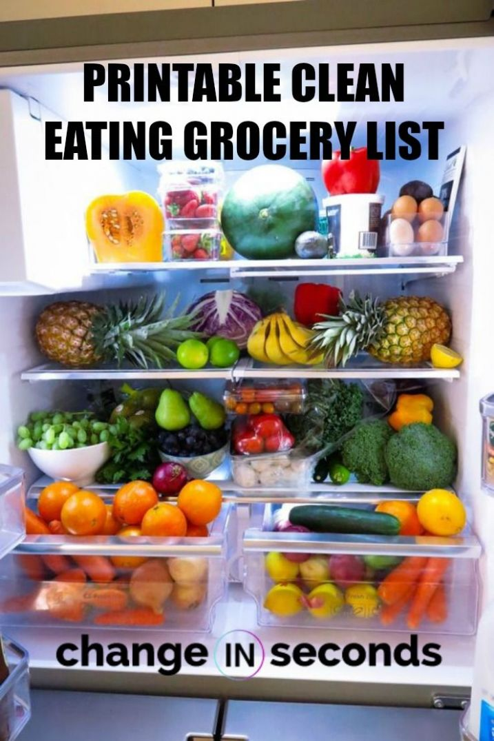 Clean Eating Grocery List For Beginners (Infographic & PDF ..