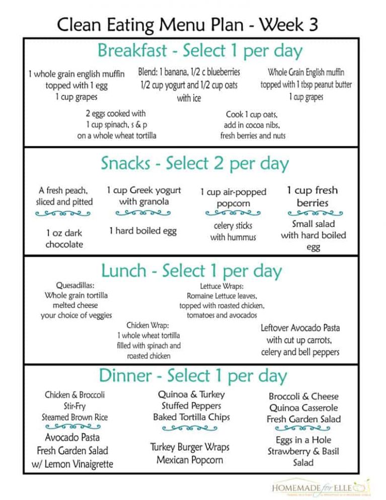 Clean Eating Meal Plan PDF {with recipes your family will love ..